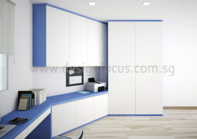 06 STUDY TABLE + CABINET-